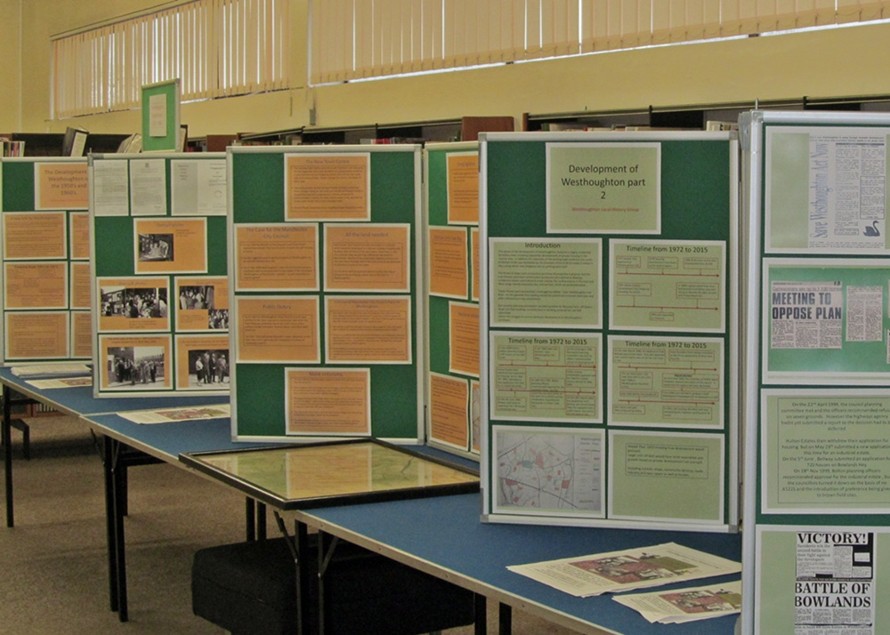 Westhoughton Under Siege - Planning Exhibition by Westhoughton Local History Group (Library late 2015)