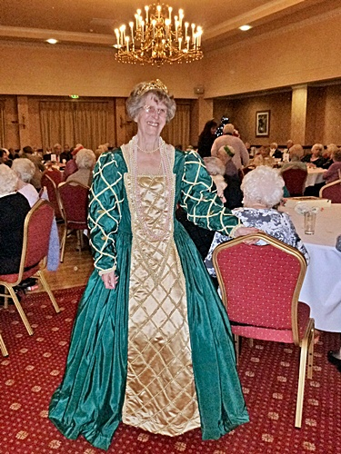 2014 W.A.S.P. Christmas Party at Brookfield Hall - Jean Green in period costume