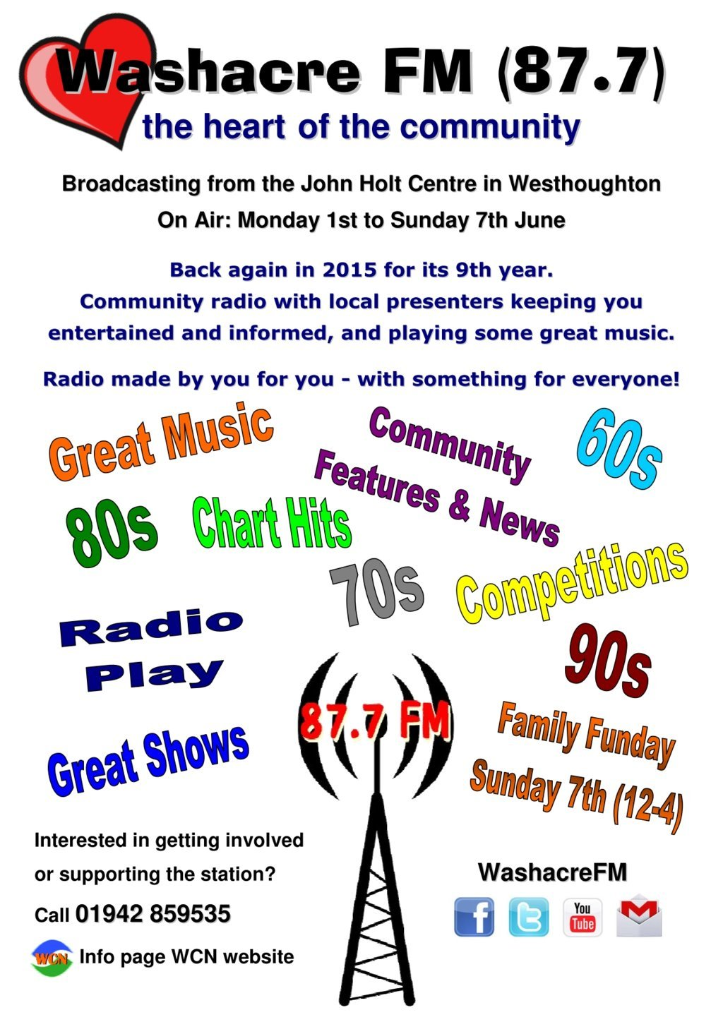 Washacre FM 2015 - Poster