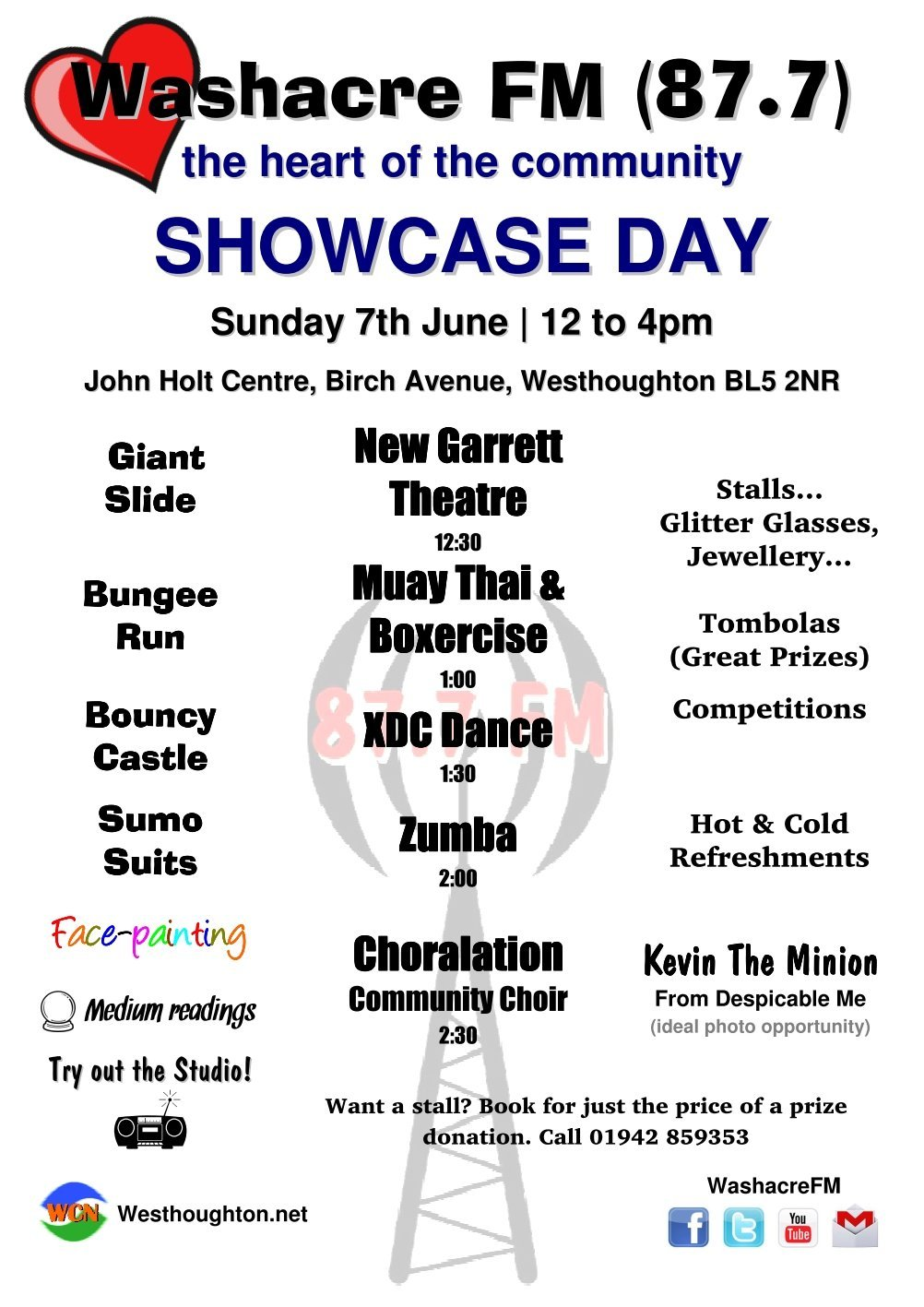 Washacre FM 2015 Showcase Day - Poster