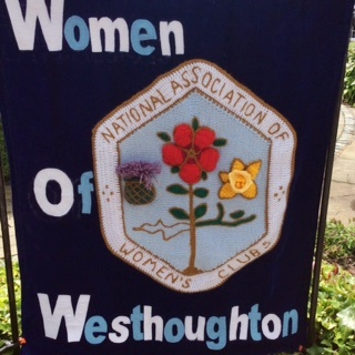 WOW - Women of Westhoughton prepare a display for the 2015 Westhoughton Yarn Bombing Festival