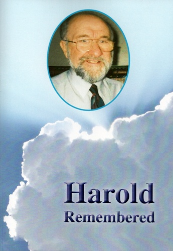Raising money for Harold Daniels Legacy Fund - a booklet compiled in his memory 'Harold Remembered'