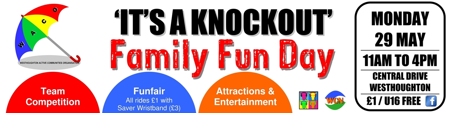 Westhoughton Community Funday - W.A.C.O.'s It's-a-Knockout 2017