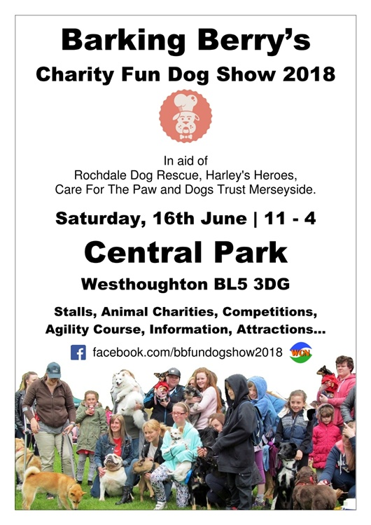 Barking Berry's Fun Dog Show 2018 - Central Park 16th June | 11-4