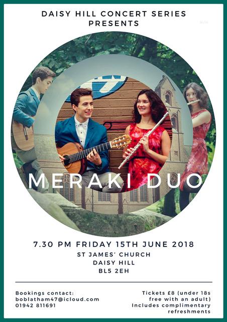 'Concert Series At St. James Church - Meraki Duo' - 15th June 2018.