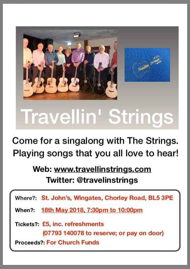 St. John's Wingates Spring Concert - Performance by The Travellin' Strings, Saturday 18th May 2018.