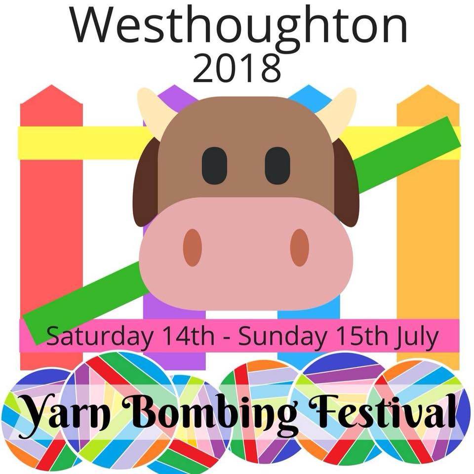 Westhoughton Yarn Bombing Festival Weekend 2018 - Market Street - Westhoughton community gathers for weekend of fun, interest and entertainment 14th and 15th July 2018 (DS)
