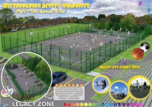 Proposed MUGA (Multi-Unit Games Area) for John Holt Centre (2019).