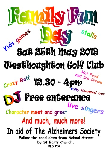 Westhoughton Golf Club Family Funday - Sat 25th May 2019.