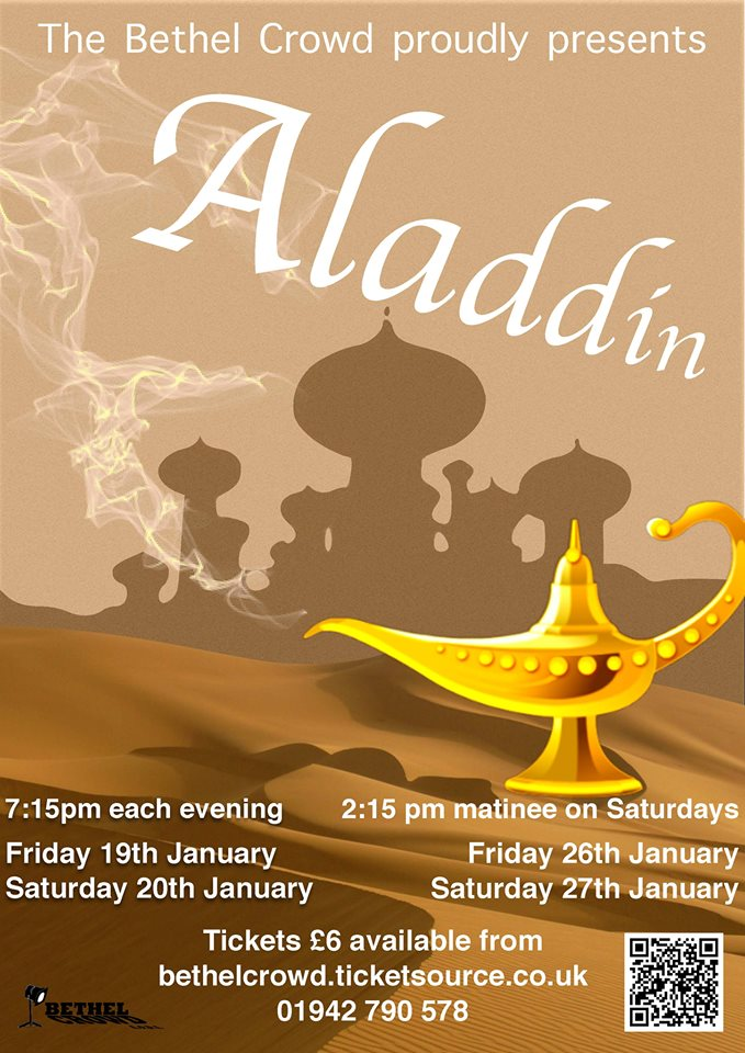 Westhoughton's Bethel Crowd 2018 Pantomime Aladdin