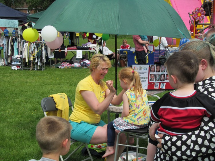 Westhoughton Community Network Fayre 2nd June 2013 - Facepainting