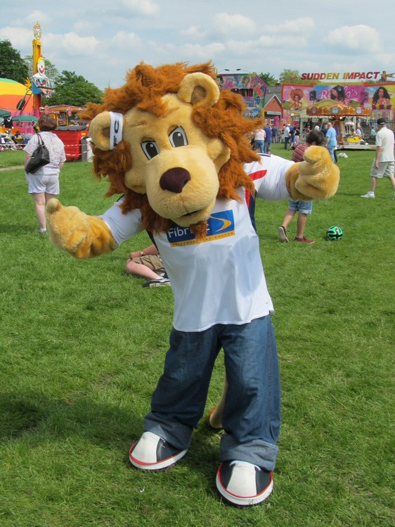 Westhoughton Big Fun Day 1st June 2014 - Lofty Junior from Bolton Wanderers FC