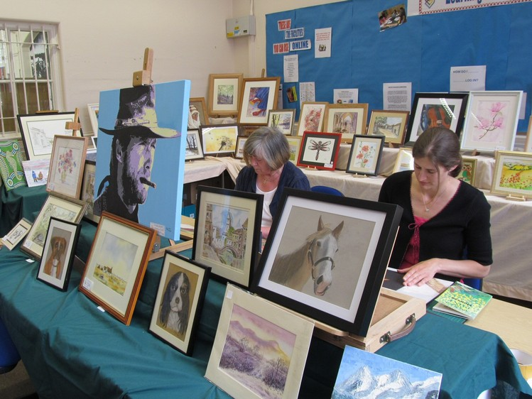 Westhoughton Big Fun Day 1st June 2014 - Westhoughton Art Group display their work