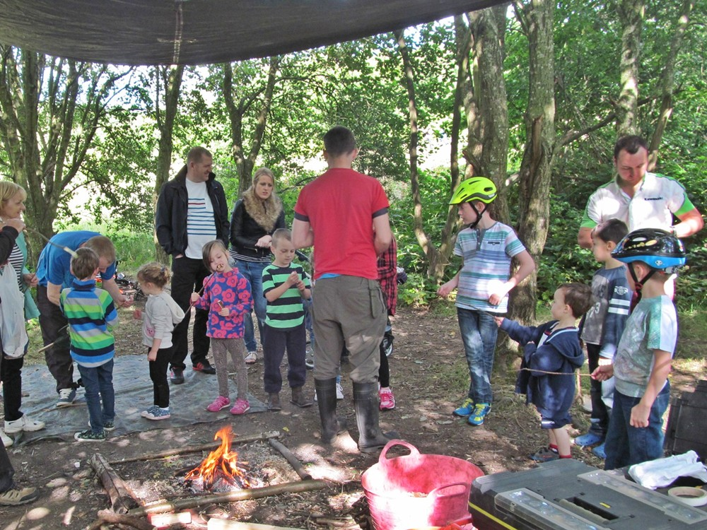 In the Den for Lancashire Wildlife Trust activities at Friends of Eatock Lodge Funday 2015.