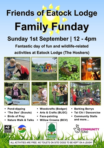 Friends of Eatock Lodge Family Funday 2019 - 1st September 2019 (12-4pm).