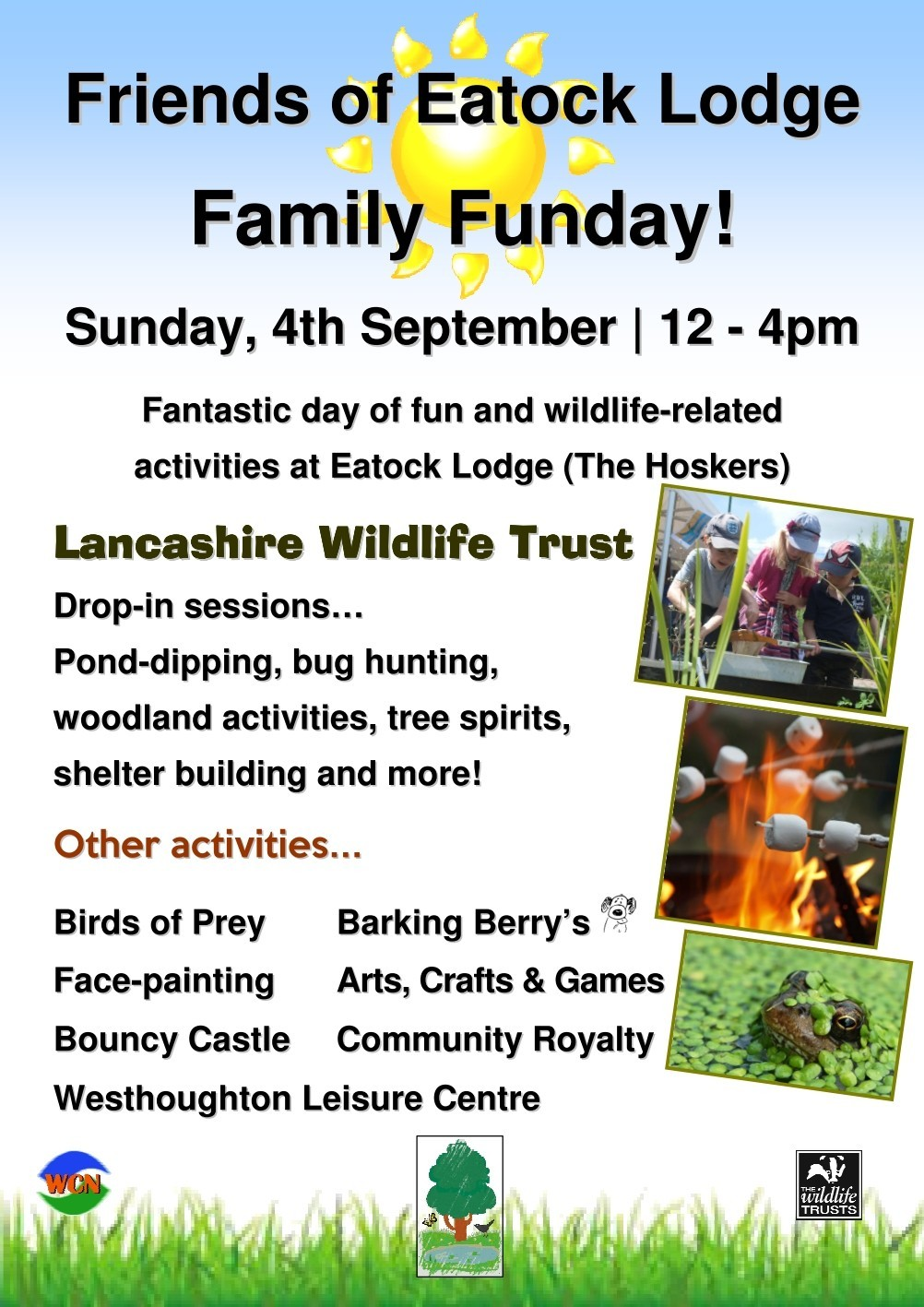 Friends of Eatock Lodge Family Funday 2016 - join us for end of summer activities at Local Nature Reserve.