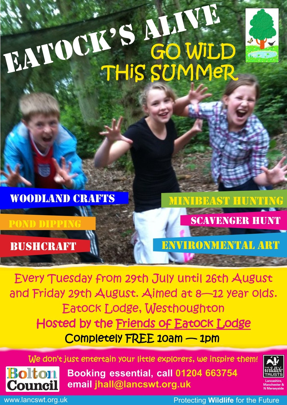 Eatock's Alive 2014 - Friends of Eatock Lodge join forces with Lancashire Wildlife Trust.