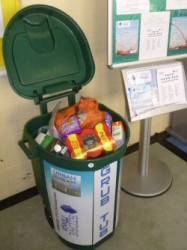 Food donations at W.A.C.O. (Communiversity) Grub Tub