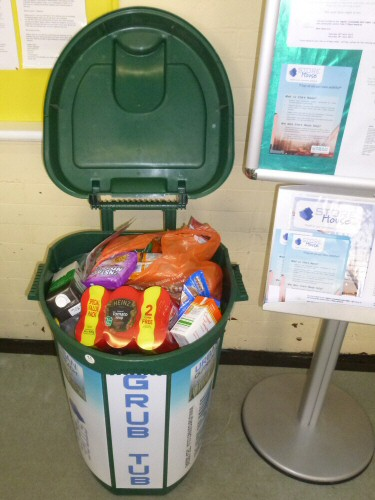 Westhoughton Community Network Foodbanks initiative with Urban Outreach - 'Grub Tub' at Central Drive Community Centre
