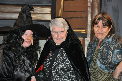 Hansel & Gretel. The Witch, Countess Dracula and Brigitte certainly don�t have Hansel & Gretel�s best interests at heart. Left - Right.  The Witch, Countess Dracula and Brigitte.