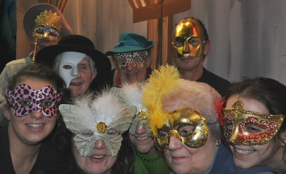 Reheasal photo from recent Westhoughton Methodist Amateur Dramatic Society production'The Man in the Iron Pantomime Mask'