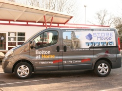 Urban Outreach/Storehouse van out and about making Foodbank collections and deliveries