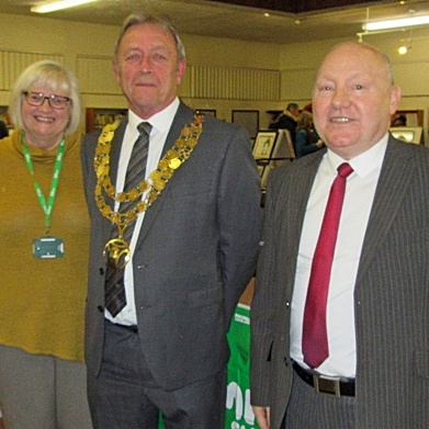 2019 Art Exhibition at Westhoughton Library opened by Town Mayor Cllr Arthur Price.