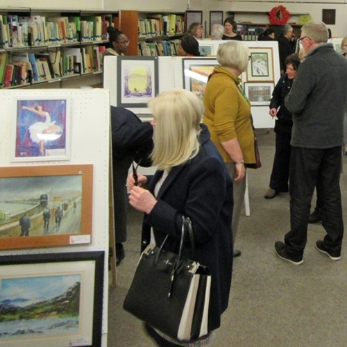 Art Exhibition at Westhoughton Library.