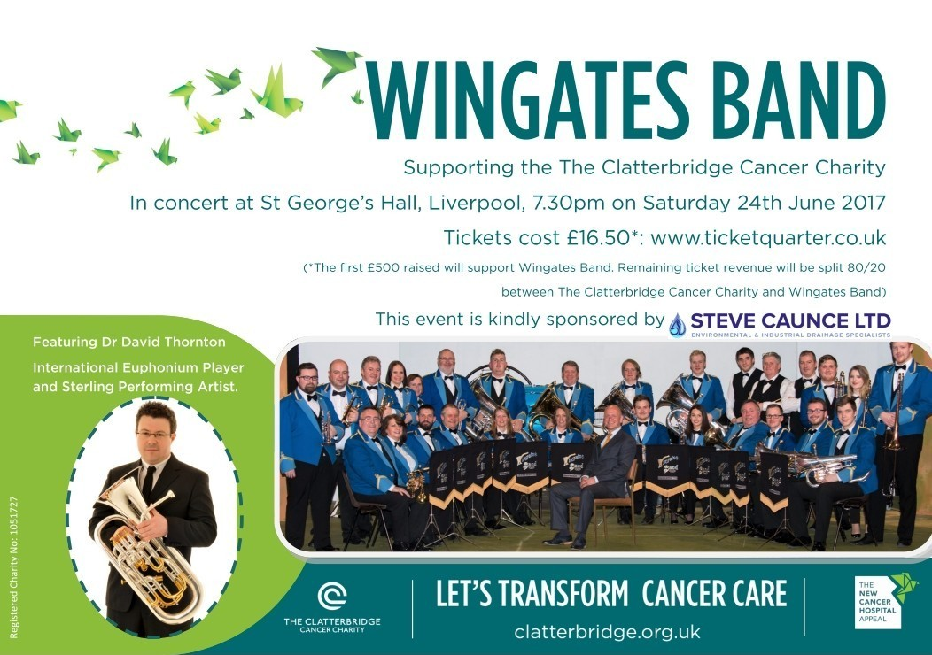 Wingates Brass Band perform at St. George's Hall Liverpool in aid of Clatterbridge Hospital