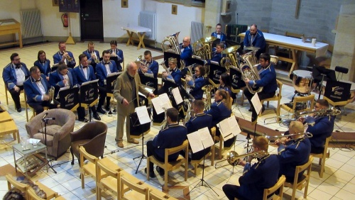 Richard Evans conducts Wingates Band once again! St. Bart's, Westhoughton 27 October 2019