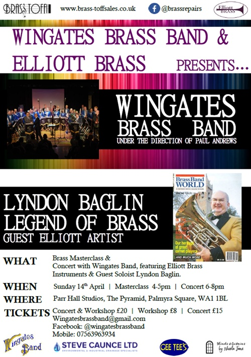 Warrington Masterclass & Concert with Lyndon Baglin, The Pyramid, Warrington.