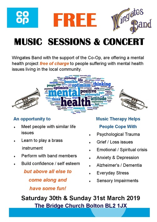 Wingates Brass Band Mental Health Awareness Project
