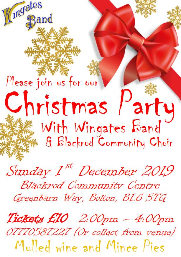 Christmas Concert at Blackrod Community Centre - Sunday 1st December (2pm).