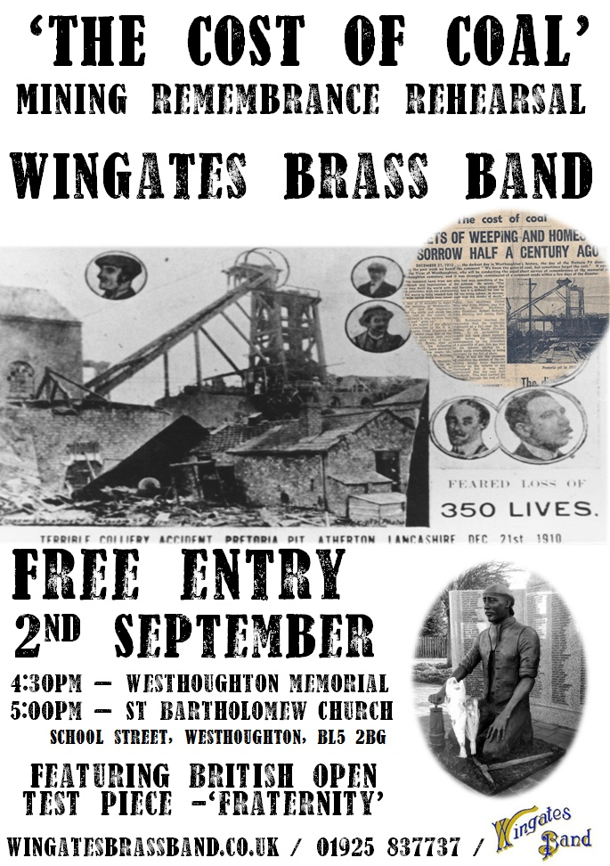 Wingates Band 'The Cost of Coal' - Open Rehearsal 2 Sept 17.