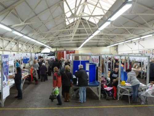 Westhoughton Community Network Fayre 24 Nov 2012 - visitors arrive to view community stalls