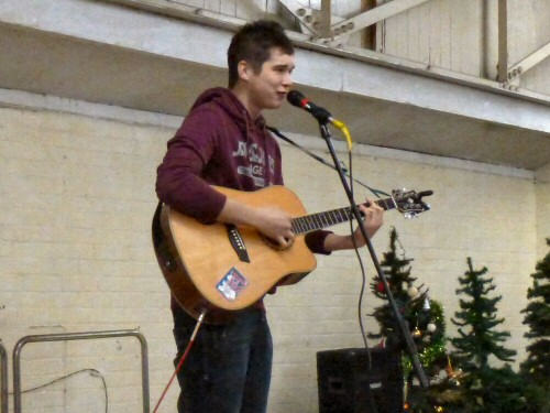 Jordan Allen performs at Westhoughton Community Network Fayre 24 Nov 2012