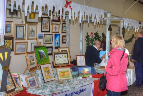 Westhoughton Community Network Fayre 24th November 2011 - Westhoughton Art Group stall