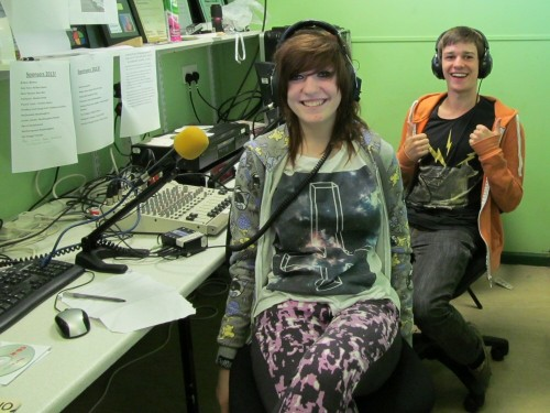 Courtney and Crew with their Evening Show on Washacre FM 2013