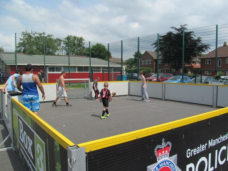 Sporting fun at the John Holt Centre.