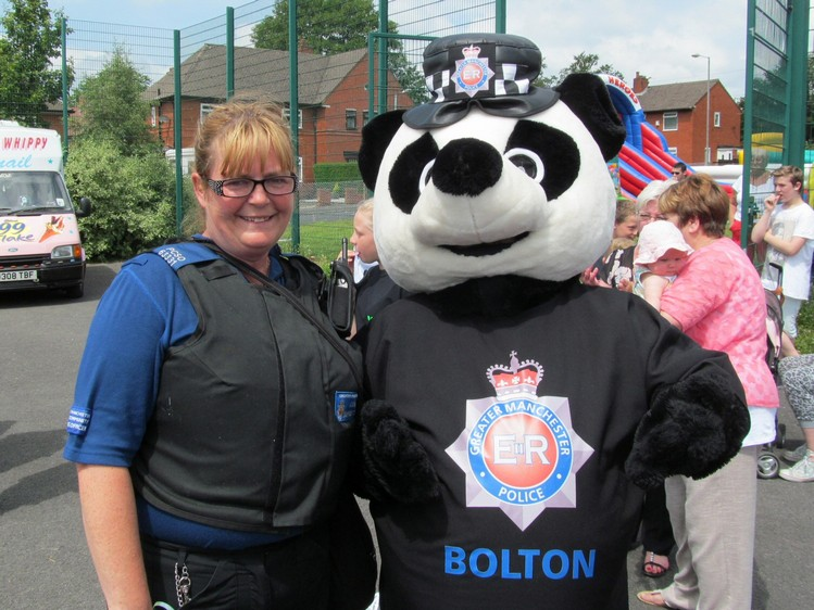 Pcsos attending John Holt Centre fun day.