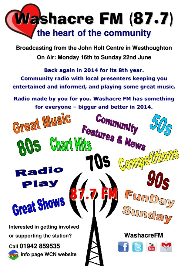 Washacre FM 2014 - Poster