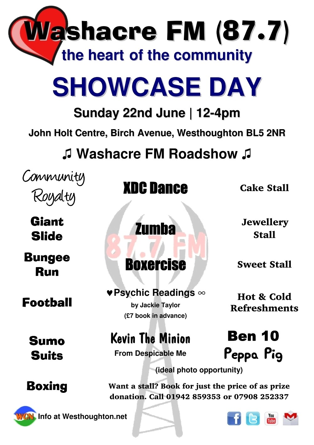 Washacre FM 2014 Showcase Day - Poster