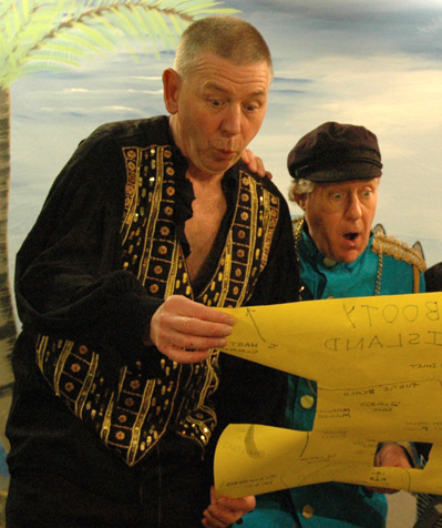 Old King Cole and Jimlad consult their Treasure Map
