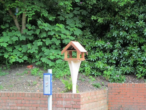 Westhoughton Station - new features, bird box added - Friends of Westhoughton Station