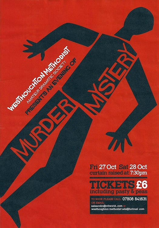 Murder Mystery - Westhoughton Methodist ADS 27-28 October 2017 (7:30pm).