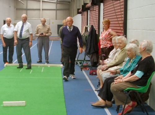 Bowling practice: an activity session organised by Westhoughton Visiting Service (Senior Solutions)