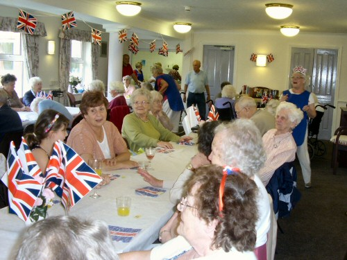 Westhoughton Visiting Service special lunch to celebrate the Queen's Diamond Jubilee in 2012