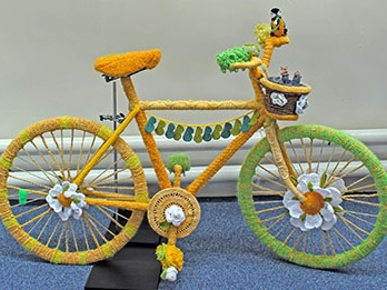 Westhoughton Yarn Bombing Festival 4th / 5th July 2015 - woolly bicycle (internet)