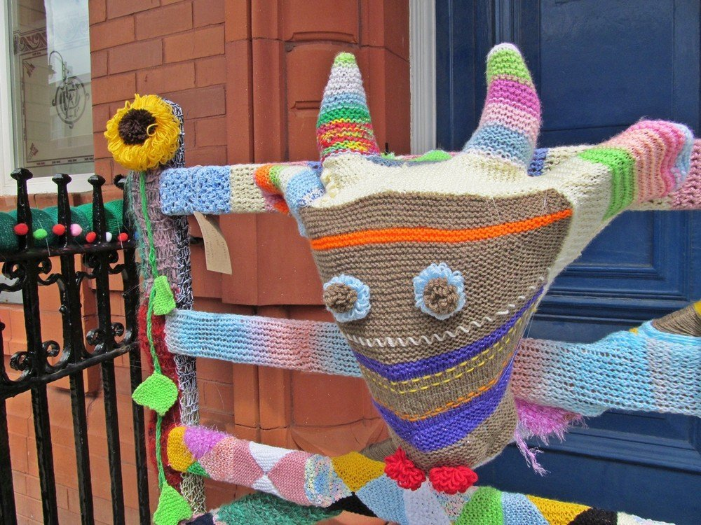 Westhoughton Yarn Bombing Festival 2015 - Cowyed legend celebrated in wool