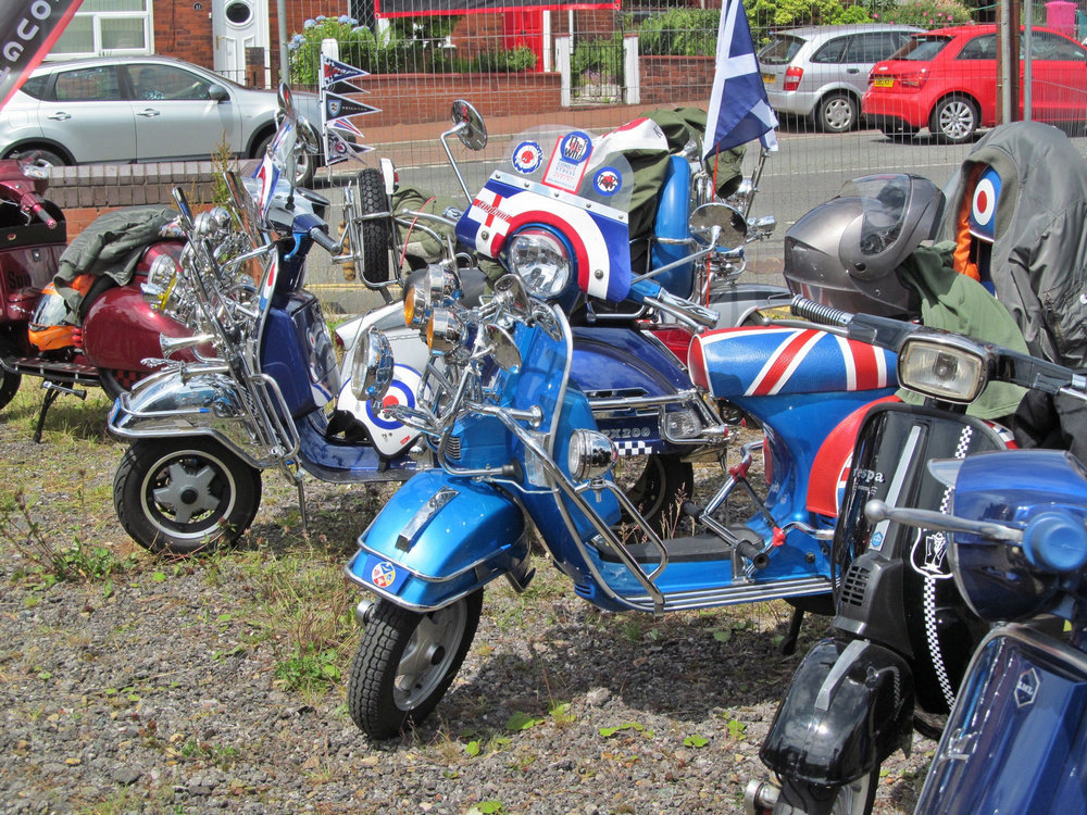 Westhoughton Yarn Bombing Festival 4th / 5th July 2015 - Motorcycle Club show off their bikes and scooters